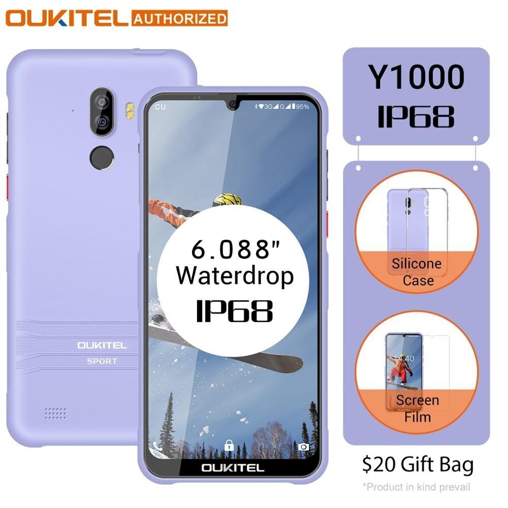 Перейти на Алиэкспресс и купить Смартфон OUKITEL Y1000, Android 9,0, 6,08 дюйма, 19,5: 9, MT6580P, 2 Гб ОЗУ, 32 Гб ПЗУ, 3600 мАч, сканер отпечатка пальца