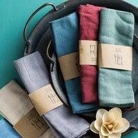 new style plain cotton linen napkin tea cloth hotel restaurant placemat tablecloth woven linen