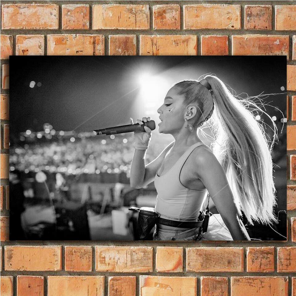 Ariana Grande Music Star Sweetener Album 14 Silk Fabric Wall Poster Art Decor Sticker Bright
