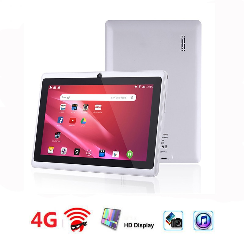 Q88 7 Inch Android Tablet System Login HD Touch Screen With Dual Camera 4G Network Quad Core Gaming Digital Tablet Free Shipping