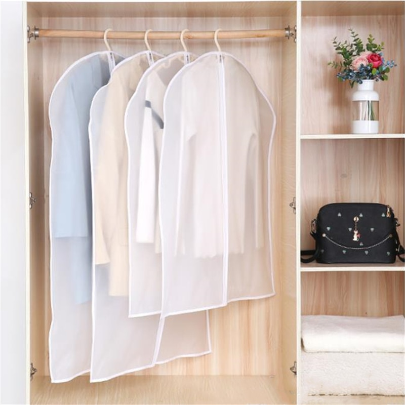 Capa protetora para roupas para casa, vestimenta para roupas à prova de poeira, saco de armazenamento para guarda-roupa pendurar poeira, 1 peça capa de proteção