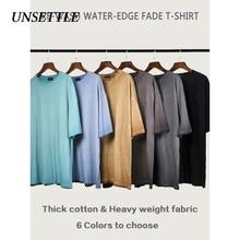 Dérégler tissu lourd haute plaine t-shirt en vrac rue mode T-shirts hommes/femmes kanye west basique surdimensionné t-shirt à manches courtes