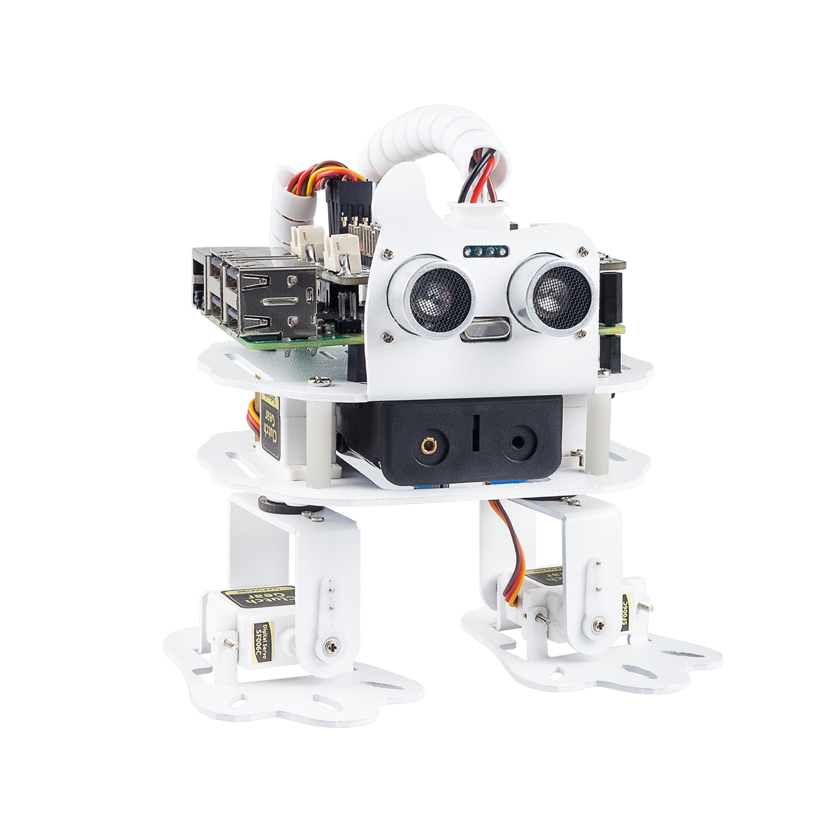 SunFounder PiSloth AI Programmable Robot Kit for Raspberry Pi, Dancing, Obstacle Avoidance, Object Following, TTS, Sound Effects