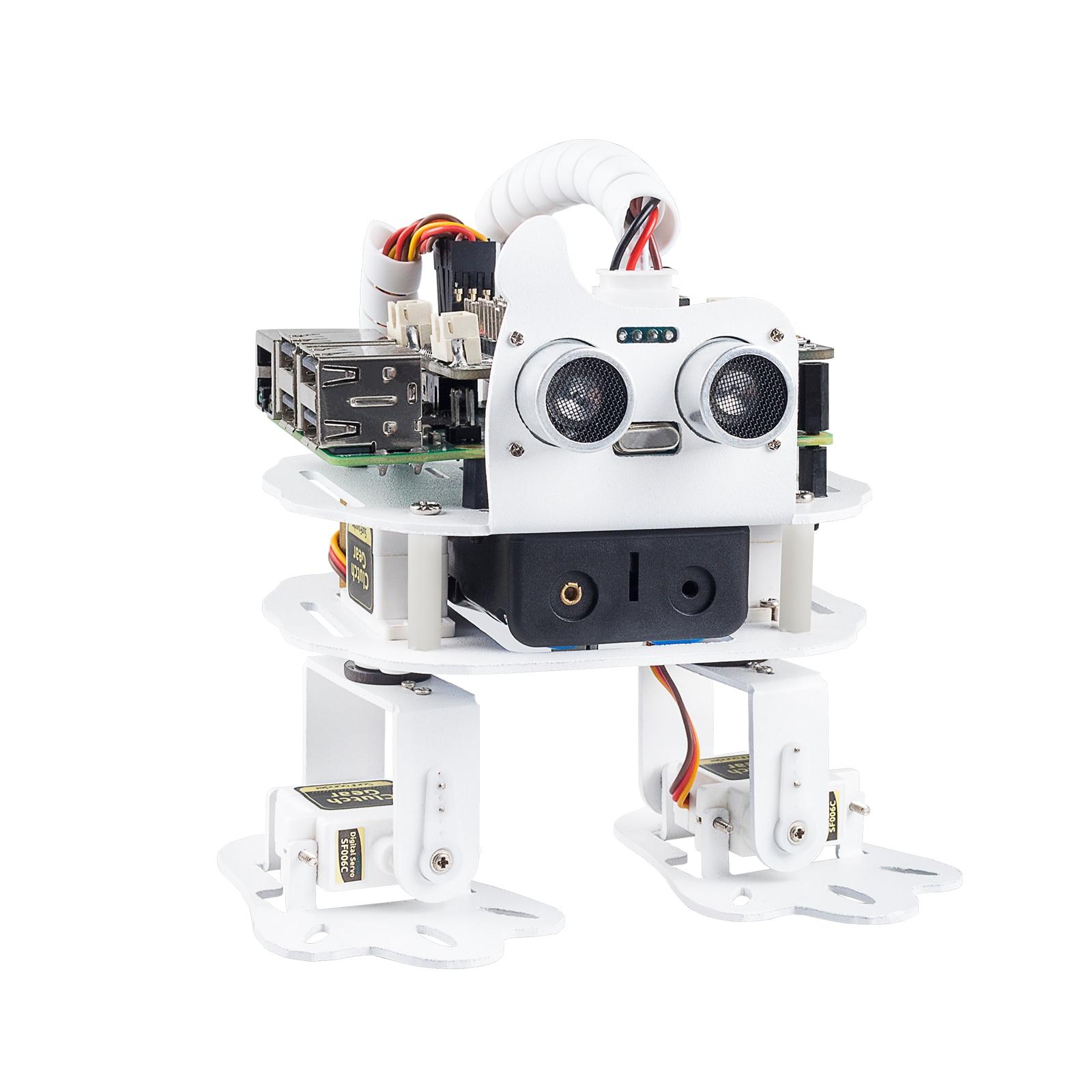 SunFounder PiSloth AI روبوت قابل للبرمجة عدة لتوت العليق بي ، الرقص ، تجنب العقبات ، الكائن التالي ، TTS ، المؤثرات الصوتية