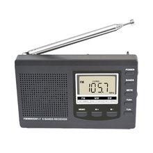 Digitale Display Draagbare Fm Am Kortegolf Multi-Band Engels Luisteren Test Sport Digitale Display Radio