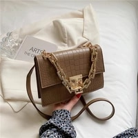 wild female bag trendy messenger bag retro crocodile pattern small square bag chain bag 2021 new simple crossbody shoulder bag