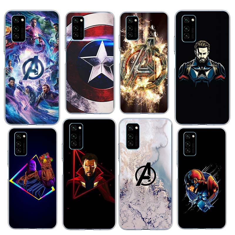 Marvel Superheroes The Avengers Case for Huawei Honor X10 5G 20 10 Pro 9X Lite 30S 20S 20i 20e 9S 9A 9C 8A Prime TPU Phone Cover