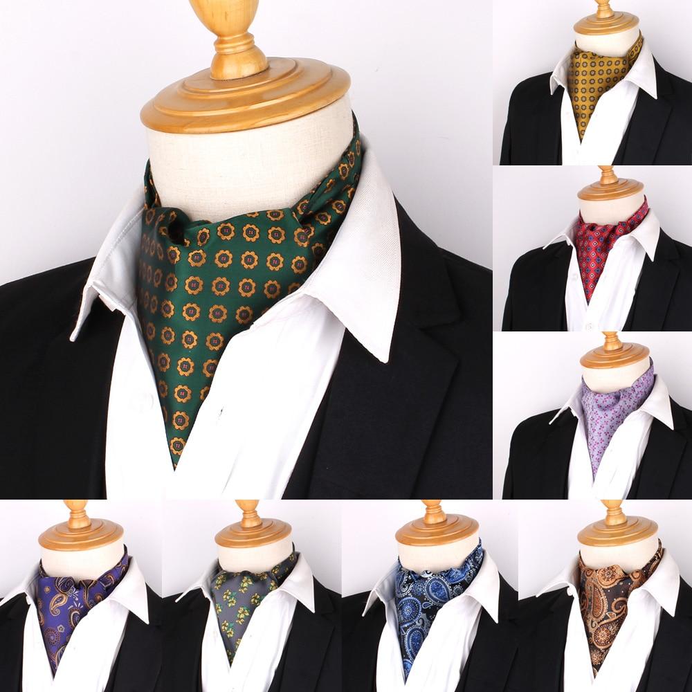 aliexpress.com - Jacquard Floral Paisley Men Cashew Tie Wedding Formal Cravat Ascot Scrunch Self British Gentleman Polyester Soft Neck Tie Luxury