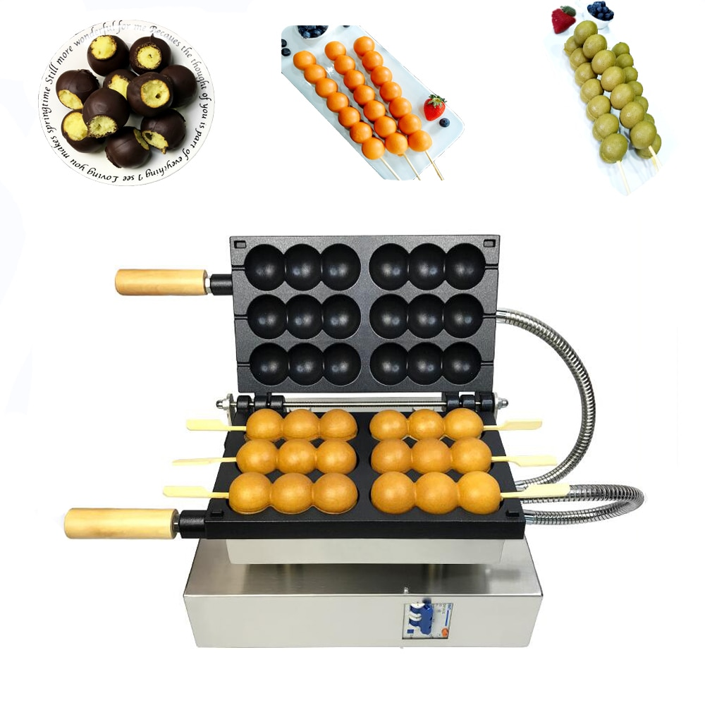 التجارية الدجاج ماكينة صنع الكعك سيخ ماكينة صنع المعجنات الهراء صانع الحديد عصا الخبز آلة هوت دوج السجق شواء بيكر