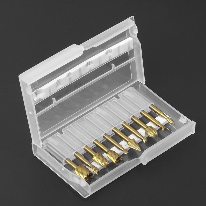 10pcs 3mm Shank Rotary Burr Set Rotary File Drill Bits Engraving Cutter Wood Tool Electric Grinding Polishing Head