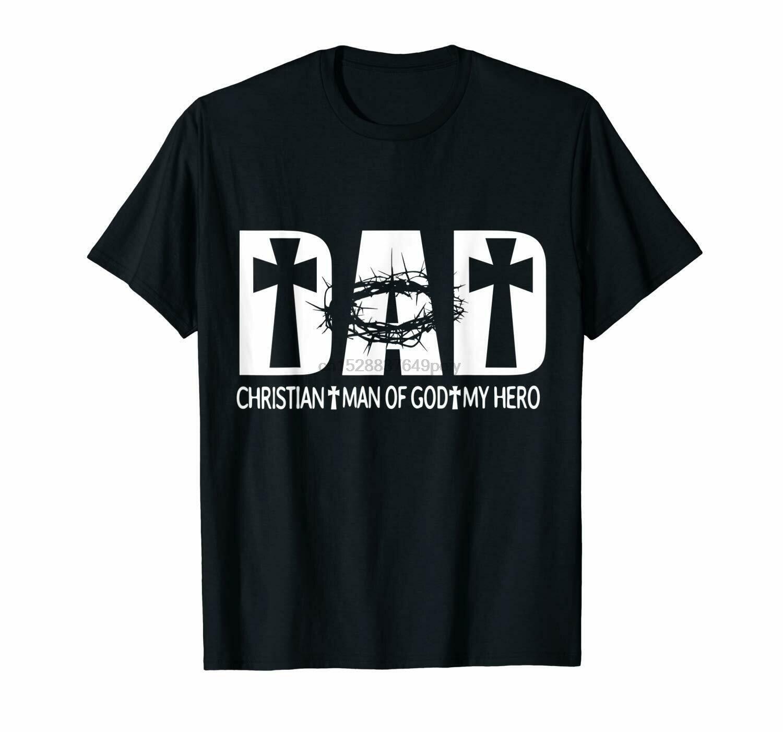 Preto pai cristão homem de deus meu herói jesus pais dia t camisa 100 algodão