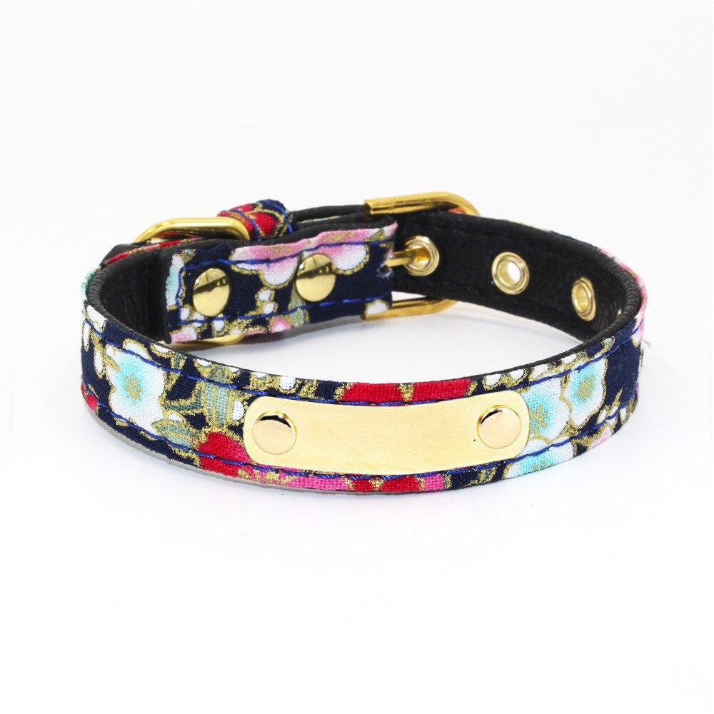 Personalizada Collar para perros y gatos Collar para mascotas accesorios para mascotas arco de tela Collar de perro gato ajustable Collar de perro, correa para el cuello