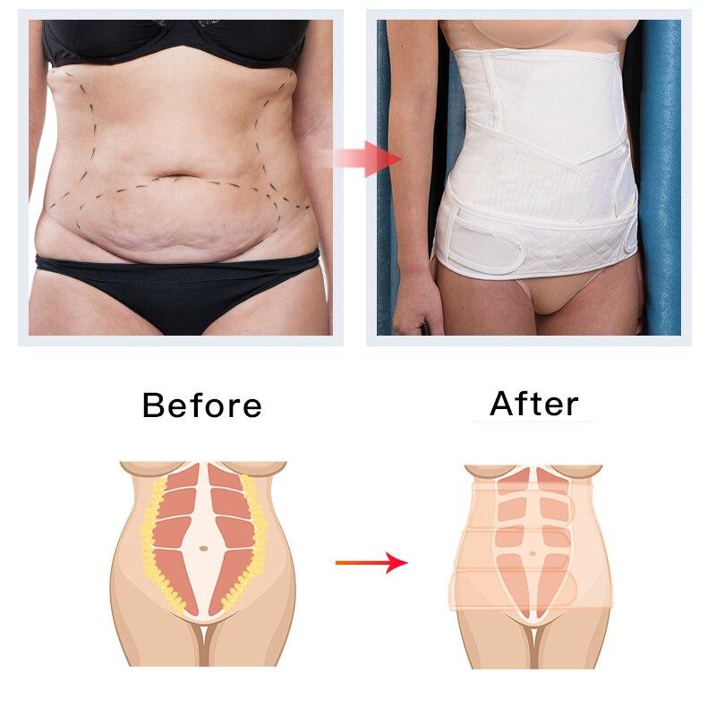 YATEMAO New 2in1 Belly/Pelvis Postpartum Belt Body Recovery Shapewear Belly Slim Waist Cinchers Breathable Waist Trainer Corset enlarge