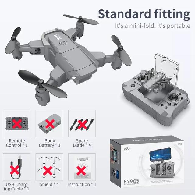 Мини-дрон с камерой KY905 со складной камерой 4K HD Квадрокоптер возврат одной кнопкой FPV Follow Me Радиоуправляемый  Квадрокоптер детские игрушкивертолет на пульте   Игрушки и хобби   АлиЭкспресс
