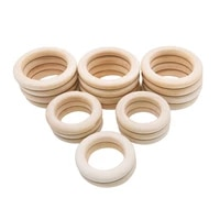 multi pcs small big natural wood rings baby teething rings infant teether kids toy wooden beads with hole for diy craft gifts