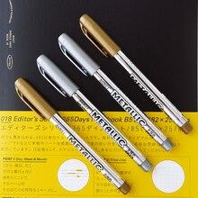2 pz/lotto FAI DA TE In Metallo Impermeabile Vernice Permanente Marker Penne Manga Disegno Marcatori Studenti