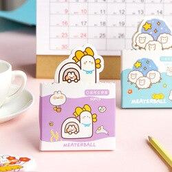 Kawaii bolso pode levantar-se notas dos desenhos animados bonito portátil pode rasgar memorando loose-leaf notas papel aprendizagem escritório bonito memorando