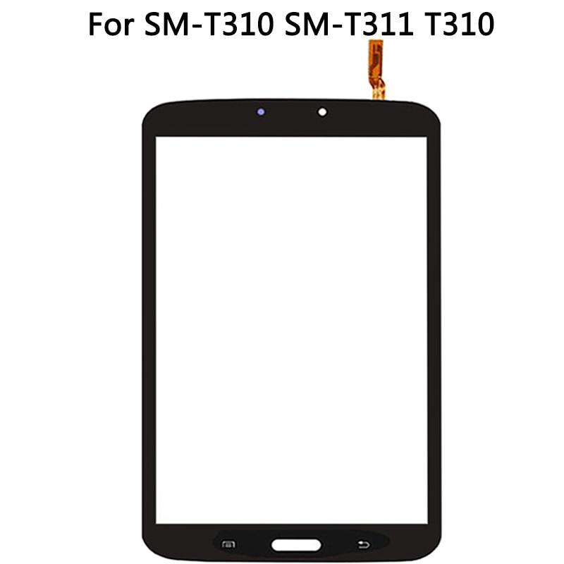 Nowy ekran dotykowy T311 do Samsung Galaxy Tab 3 8.0 SM-T310 SM-T311 T310 ekran dotykowy Panel Digitizer czujnik szkło przednie nie LCD
