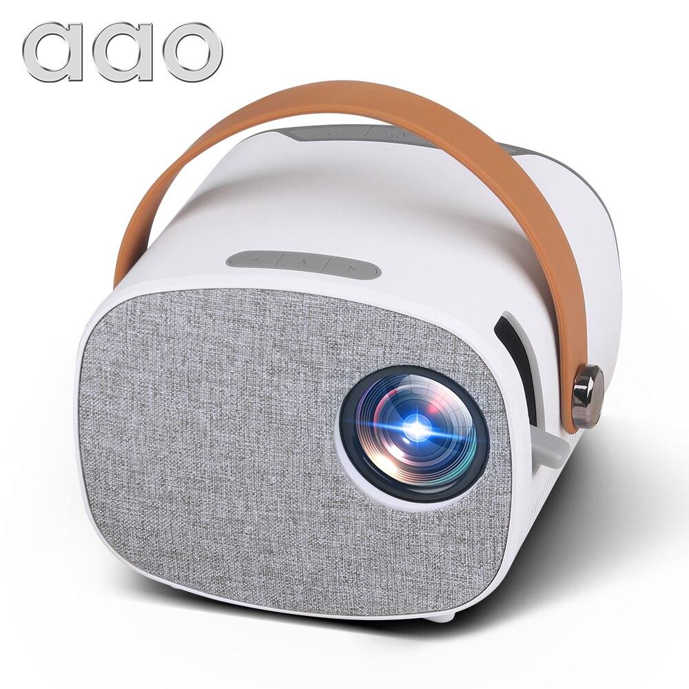 AAO YG230 جهاز عرض صغير-جهاز عرض فيديو محمول, يدعم 1080P ، شاشة 100 بوصة ، واي فاي ، متعدد الشاشات ، مشغل وسائط ، هدية للأطفال