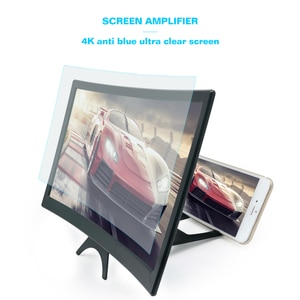 L6 12 inch Enlarged Bracket Display Mobile Phone Screen Magnifier Stand Video Amplifier Universal High Definition Curved Movie