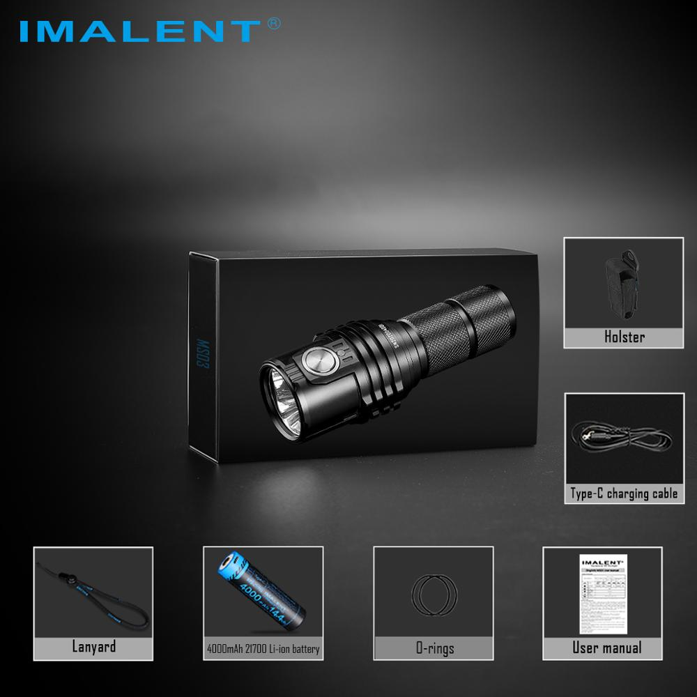 IMALENT MS03 Flashlight Rechargeable 13000 Lumens Cree XHP70.2 Led Torch with 21700 Chargeable Battery Waterproof Light enlarge