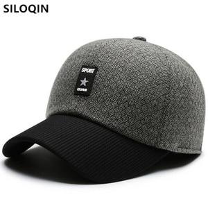 SILOQIN Winter Men's Thick Warm Baseball Caps Snapback Cap Letter Fashion Sports Cap Adjustable Size Windproof Warm Earmuff Hats