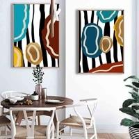Peinture a lhuile abstraite nordique  couleur mode graffiti art toile peinture salon couloir bureau decoration murale de la maison