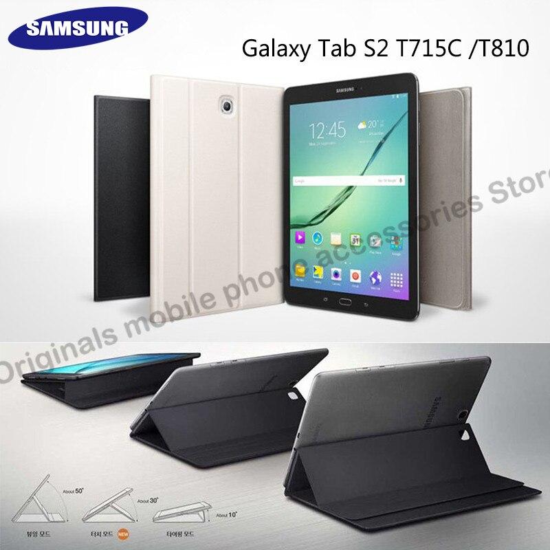 Samsung-جراب كمبيوتر لوحي Galaxy Tab S2 ، 8.0in ، T715 ، T810 ، 9 ، 7 بوصة ، T810 ، حامل مغناطيسي ، 1:1 ، وظيفة تلقائية ، مع وظيفة التنبيه أثناء النوم