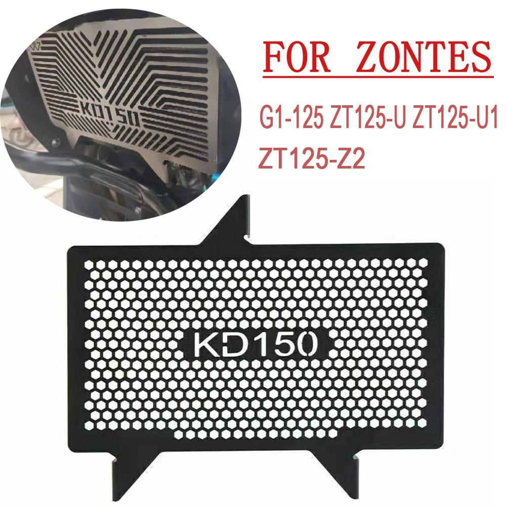 شبكة المبرد الحرس غطاء دراجة نارية المبرد صافي ل Zontes G1-125 ZT155-U ZT125-U1 ZT125-Z2 خزان المياه شبكة حماية G1 125