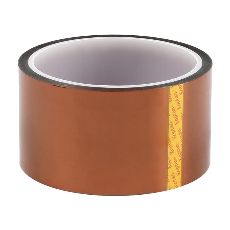10 قطعة/الوحدة درجات الحرارة العالية مقاومة براون الشريط بوليميد الشريط فيلم ارتفاع درجة الحرارة بغا مخصص الشريط 50 مللي متر X 33 متر