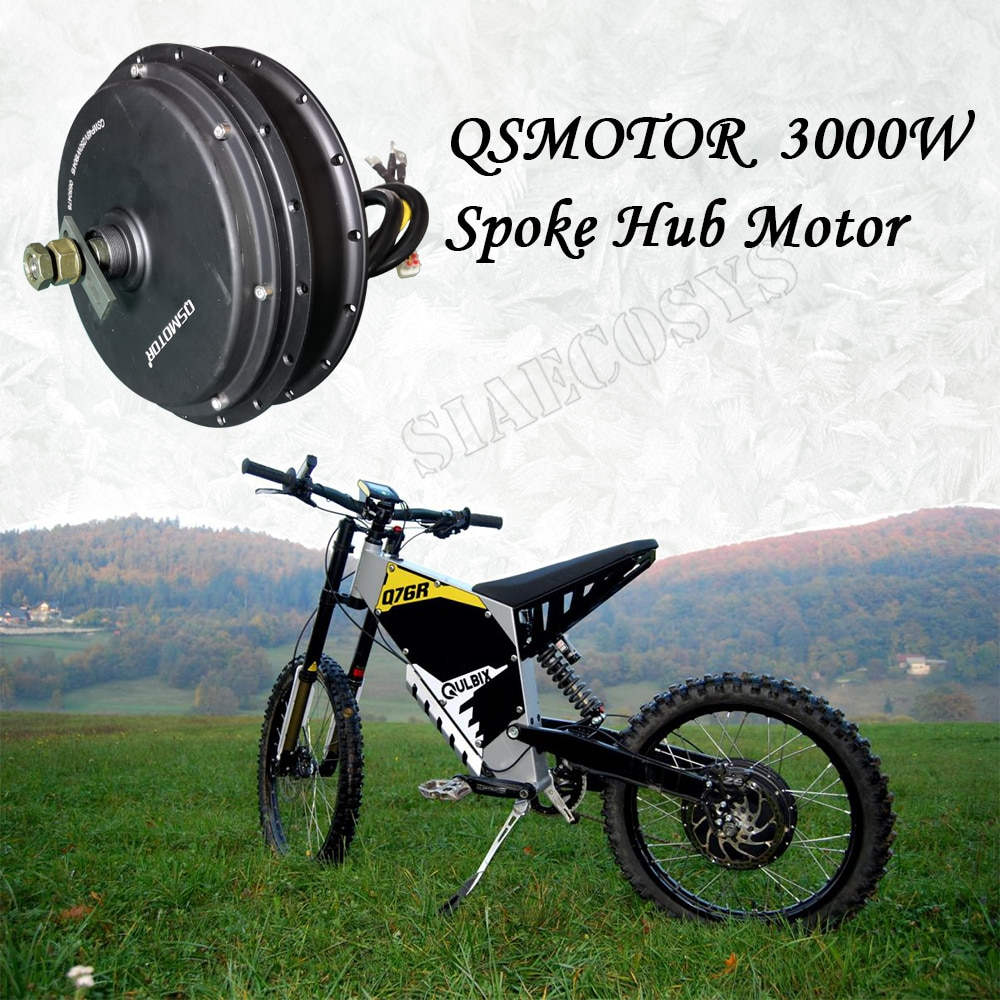 Hot sale QS MOTOR E-spoke 3000W 205 50H V3 V3I Hub Motor match svmc72150 sabvoton controller kits for electric bicycle enlarge