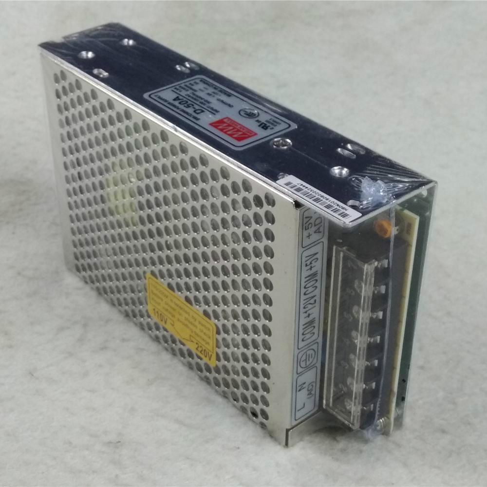 جديد 5V 6A 12V 2A MeanWell D-50A تحويل التيار الكهربائي مضاعفة الانتاج A-60367
