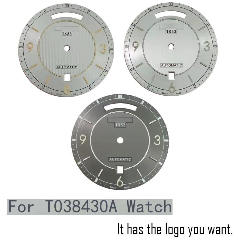 Caja de mano de dial de reloj de 32,8mm para T038430A mecánico de hombre T038 reloj de texto accesorios de reloj T038430 piezas de reparación