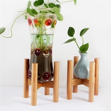 Support de Pot de fleur en bois détachable Durable de couleur en bois support de bonsaï autoportant