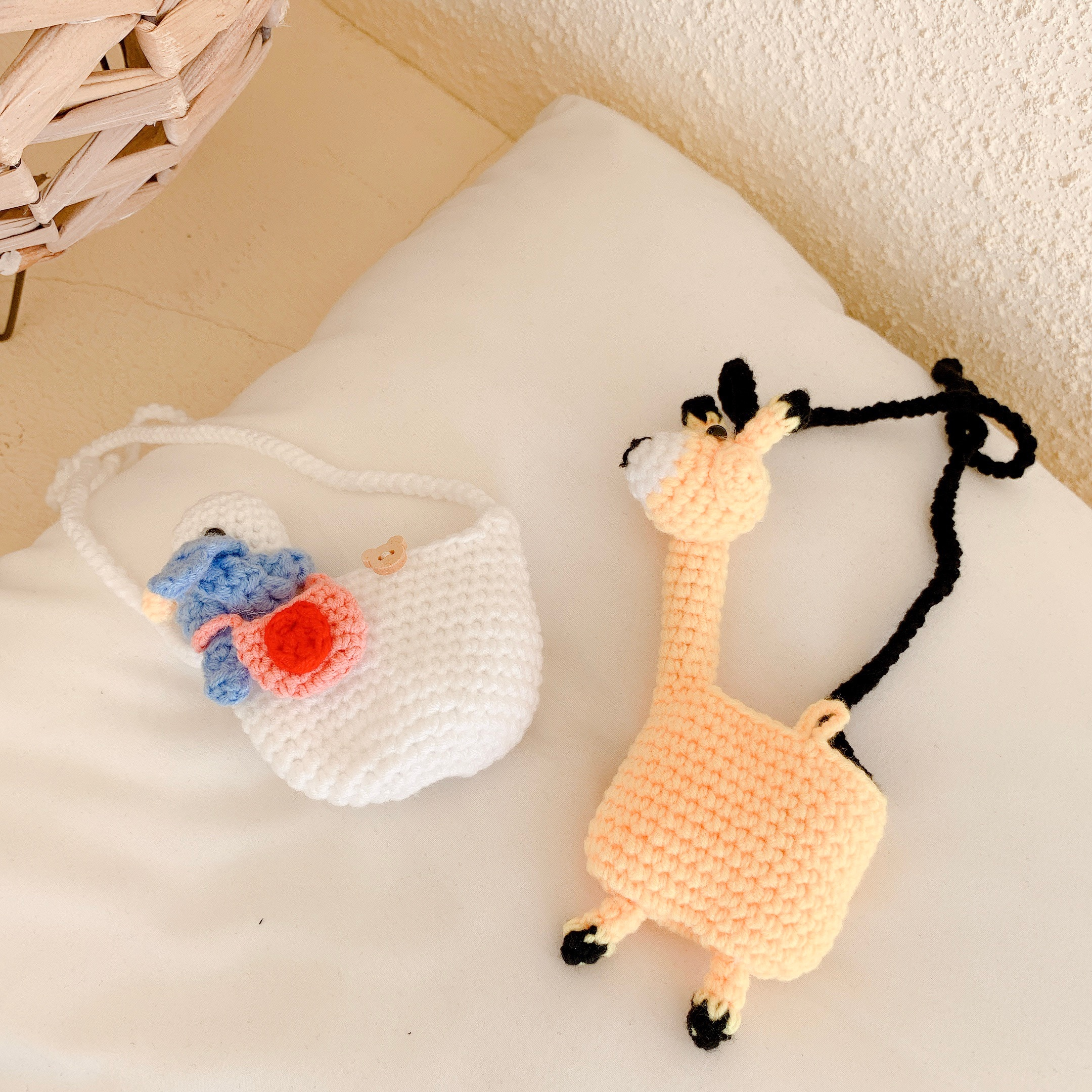 Newest Cartoon Knitting For Apple Airpods Case Cute White Ducklings Yellow Giraffe Protective Sleeve  For Airpods Case 1 2 Pro enlarge