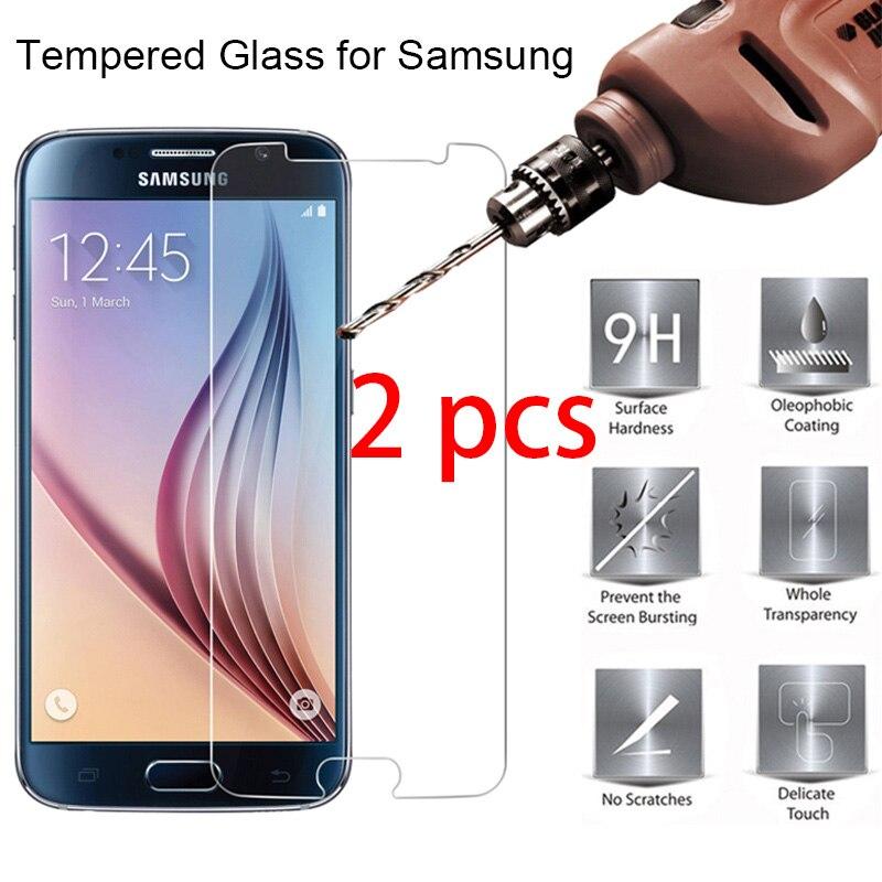 ¡2 uds! Protector de pantalla de vidrio templado duro para Samsung J2...
