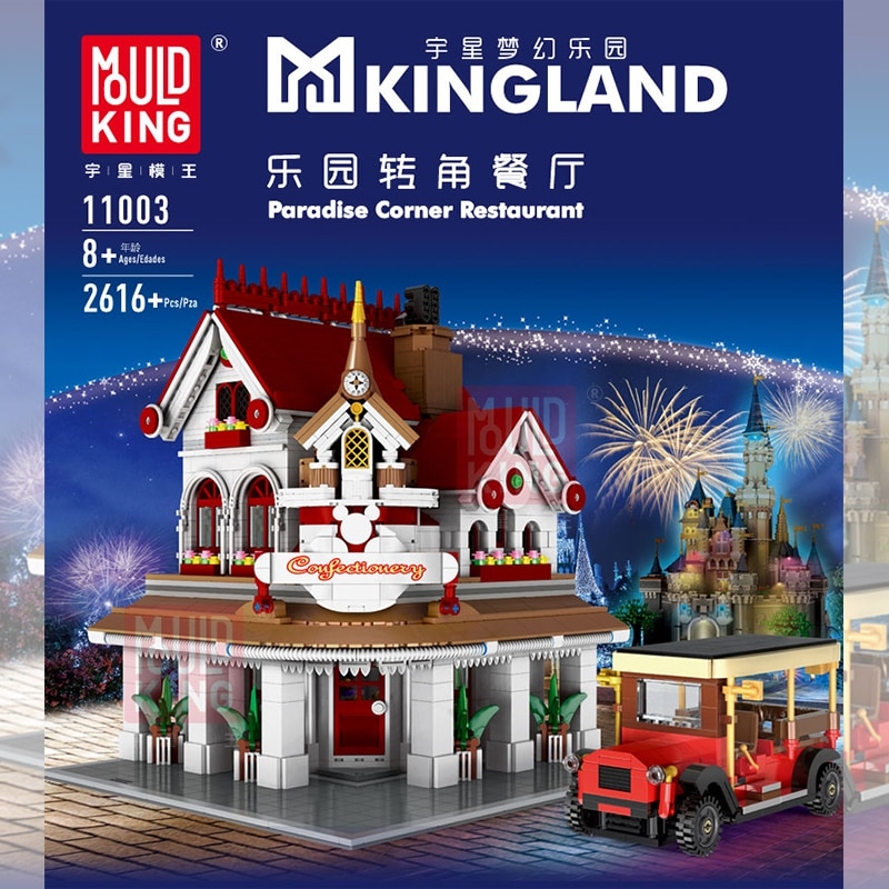 Moc lepining criador especialista canto restaurante tijolos cidade rua modelo kit blocos de construção crianças brinquedos compatíveis com 10182 presentes