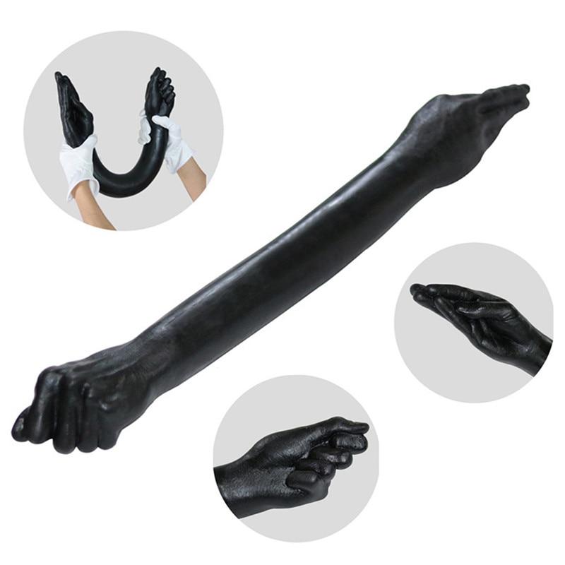 Nuevo 25,6 pulgadas de largo consolador Fisting brazo Consolador de doble extremo consolador juguetes sexuales para mujer lesbiana enorme consolador Anal Dildo pene grande tienda de sexo