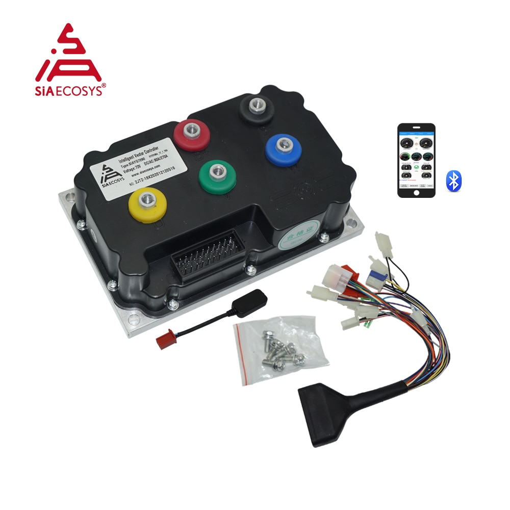 New Arrival SiAECOSYS Programmable SIAYQ7290 72V 110A Controller For High Power Electric Scooter Bike enlarge