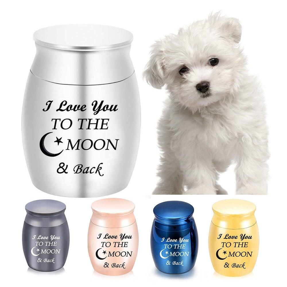 Urnas de cremación I Love You to the Moon and Back, recuerdo de mascotas y humanos, miniurna funeraria para gatos y perros, urna funeraria para cenizas