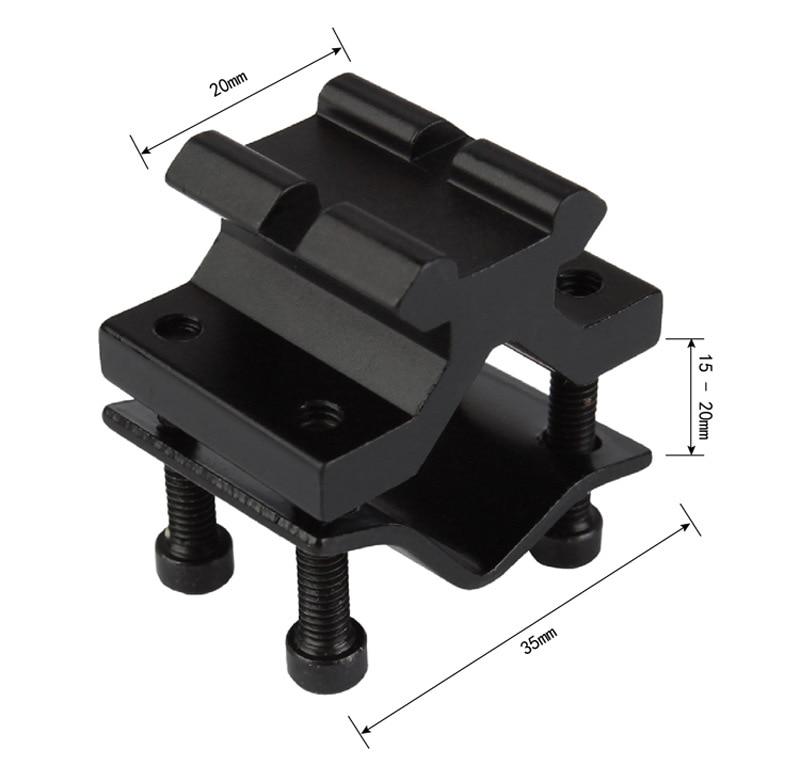 Táctica Universal ajustable de 20mm riel Picatinny Weaver barril adaptador de montaje para Rifle