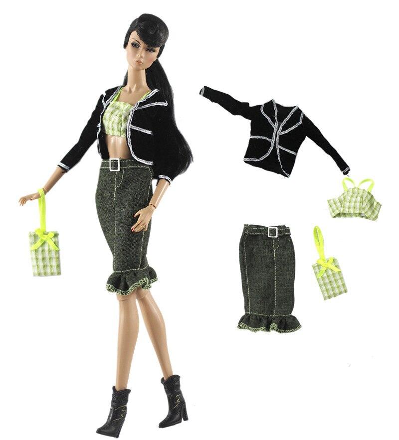 Handgemachte Mode Outfit Set Kleidung für 1/6 BJD SD Blyth Puppe Kleid Zubehör Spielen Haus Dressing Up Kostüm Mädchen Spielzeug