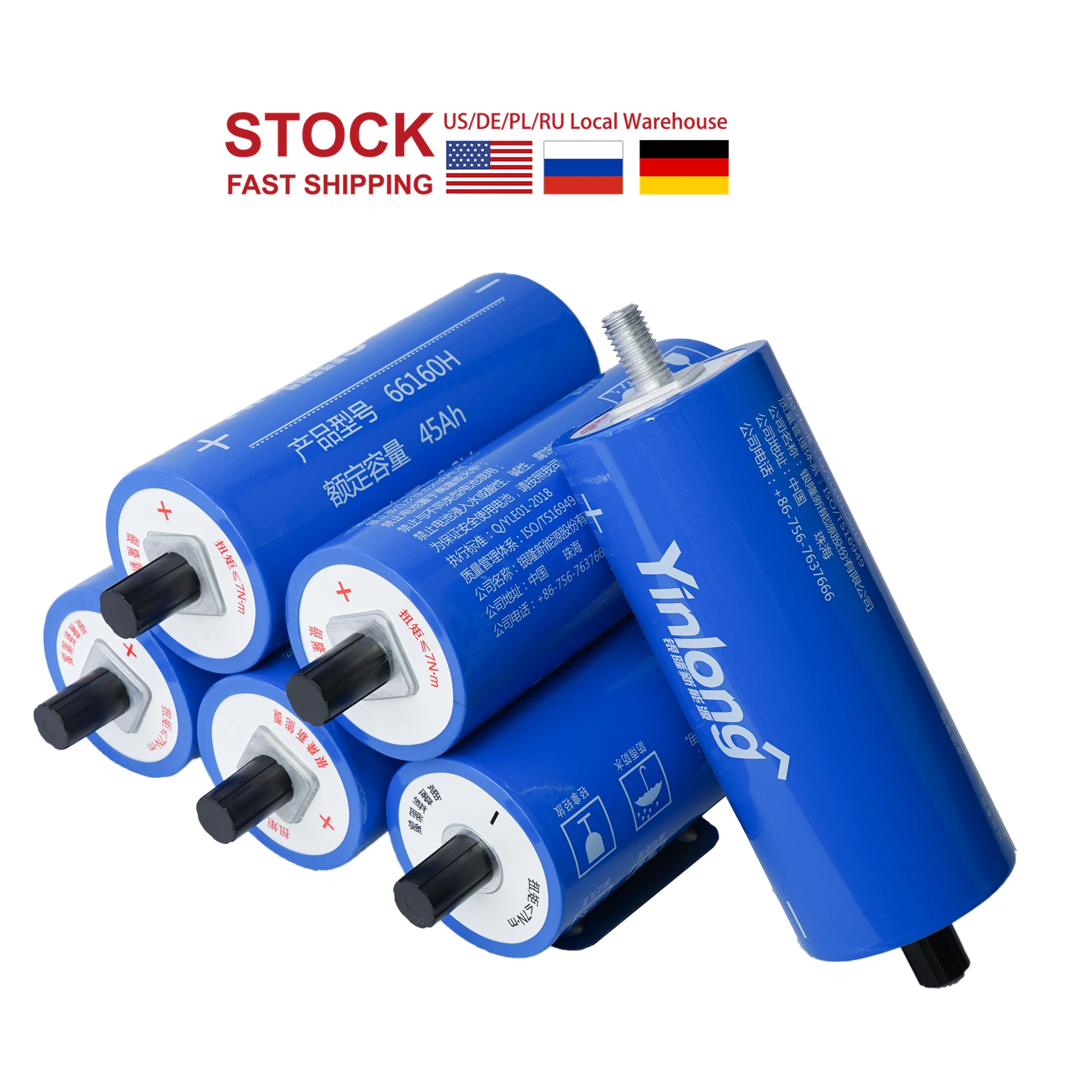 6 uds batería LTO 2,3 V 30Ah grado Original un 66160 de 2,4 V titanato de litio celular de YINLONG UE nos 3-7days entrega 12V 24V 48V 48V EV RV