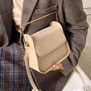 Metal handle Mini PU Leather Crossbody Bags for Women 2021 Fashion Trend Handbag Women's Branded Trending Shoulder Totes