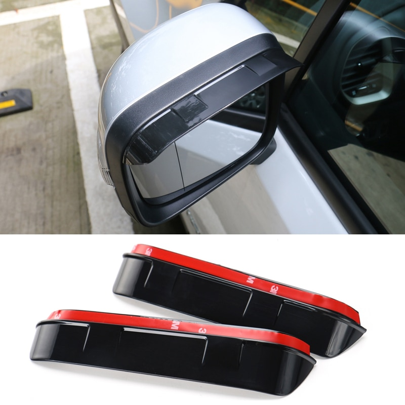 YCCPAUTO, 2 uds., pantalla para lluvia del espejo retrovisor de PVC para Jeep Renegade 2016 + accesorios para coche, espejo trasero, lluvia, ceja, protector contra la lluvia