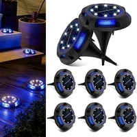 1x 2x 4x 8x 2 in 1 solar powered waterproof in ground lights white blue for garden deck stair step lawn patio driveway walkway