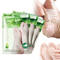 6pcs3pair dead skin remover foot mask exfoliating feet mask socks for pedicure peeling heels foot mask aloe vera feet mask