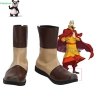 cosplaylove avatar the last airbender tenzin brown shoes cosplay long boots leather custom made for party birthday