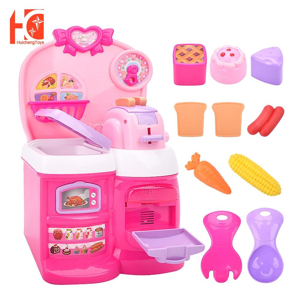 Детский кухонный игровой набор, игрушки, ролевые игры, кулинарная кухонная игрушка, тостер, кухонная еда, ролевые игры недорого