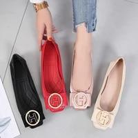 flats shoes women summer slip on ballet flats dress shoes pu leather fashion ballerina shoes for women